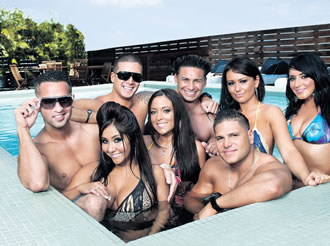 Jersey Shore is hilarious for all the wrong reasons. Watching the antics of these perma-tanned American idiots is something best done under the influence of alcohol.