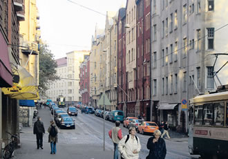 Tehtaankatu is the longest thoroughfare in Ullanlinna.