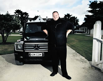 Living large: the controversial Kim Dotcom.