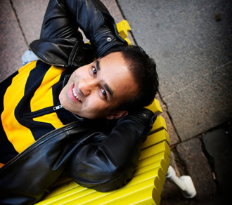 Indian-born Ranjith Kumar Prabhakaran donned a bee shirt to mark the special occasion.
