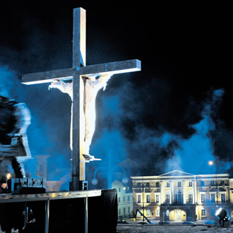 An ecumenical practice of the traditional Via Crucis is performed on Good Friday and tours all over Helsinki.