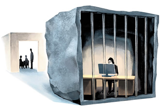 Work can feel like a prison of restrictions for some employees.