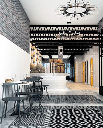 The lobby of this Barcelona hotel is a sprawling bakery. One of the key trends in hotel design in recent years has been a sharp focus on creating a hotel lobby that is a destination.