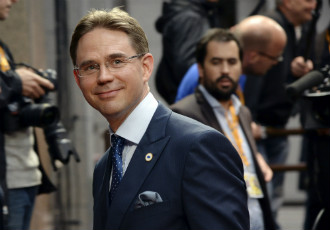 Jyrki Katainen (NCP) arrived in Brussels on Tuesday to take part in an informal discussion between European leaders on the ramifications of the European elections.