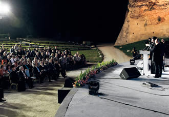 The opening ceremony of the forum, which was held in the picturesque old castle of Rhodes.
