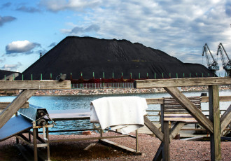 If Helsinki lives up to its promise of becoming coal-free, these stacks of coal in Hanasaari may disappear from the landscape.