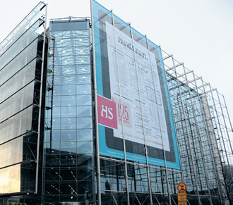 Helsingin Sanomat's office is located in Sanomatalo.