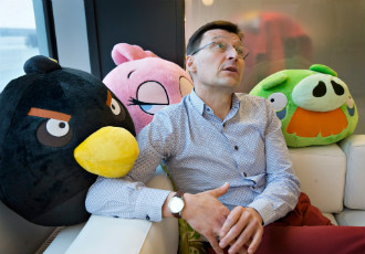 Pekka Rantala, the newly-appointed chief executive of Rovio, pictured in the headquarters of the game and entertainment studio in Keilaniemi, Espoo.