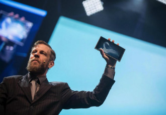 Marc Dillon, one of the co-founders of Jolla, unveiled the world's first Sailfish-powered tablet at Slush 2014.