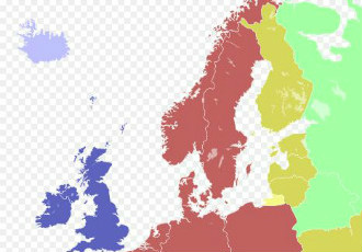 Finland adopted Eastern European Time (GMT+2), highlighted in yellow on the map, in May 1921.