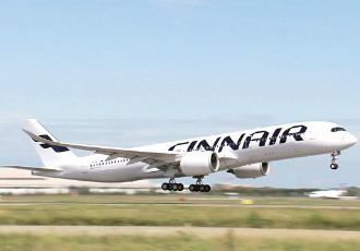 The first of a total of 11 Airbus A350 aircraft acquired by Finnair is scheduled to touch down at the Helsinki Airport shortly before 6pm on Wednesday.