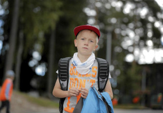 "Heikki Jäntti, a 7-year-old first-grader at Matinlahti Primary School in Espoo: ""I'm not worried about anything at school. Everything's nice."""
