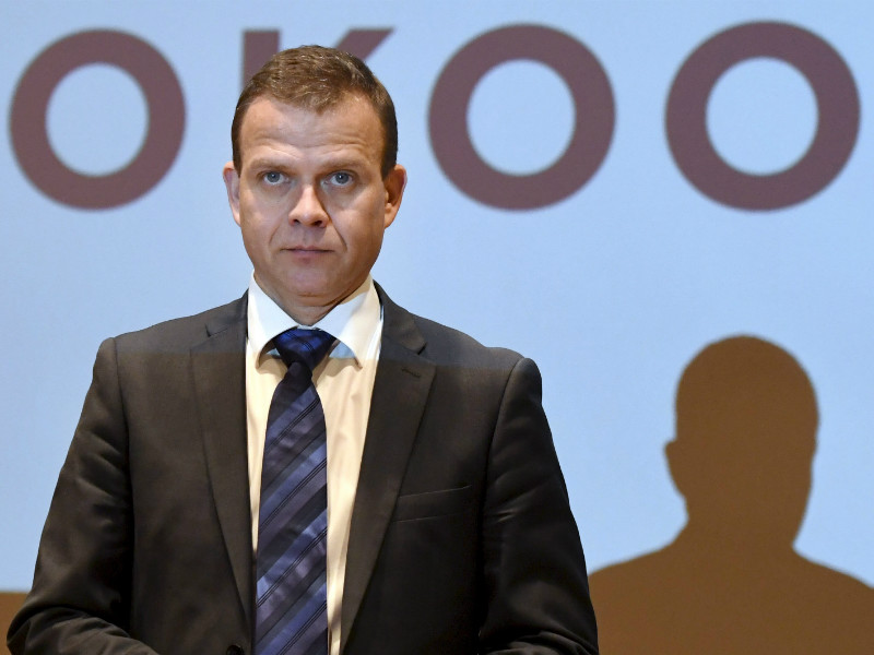 Petteri Orpo, the chairperson of the National Coalition, delivered a speech to his party comrades in Helsinki on 21 January, 2017.