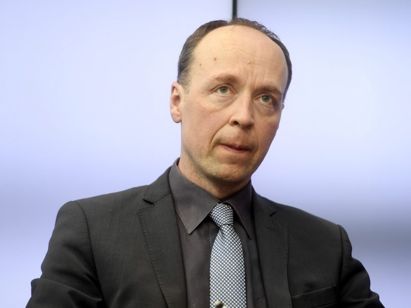 Jussi Halla-aho, the chairperson of the Finns Party, participated in a debate event organised in Helsinki on Tuesday by Helsingin Sanomat. (Vesa Moilanen – Lehtikuva)