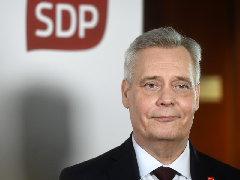 Antti Rinne (SDP) acknowledges that Finland's upcoming presidency of the Council of the European Union adds a sense of urgency to the coalition formation process. (Vesa Moilanen – Lehtikuva)