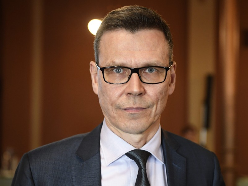 Mikko Spolander, the head of the economic department at the Ministry of Finance, talked about the ministry's economic forecast for 2019–2021 in Helsinki on Thursday, 4 April. (Vesa Moilanen – Lehtikuva)