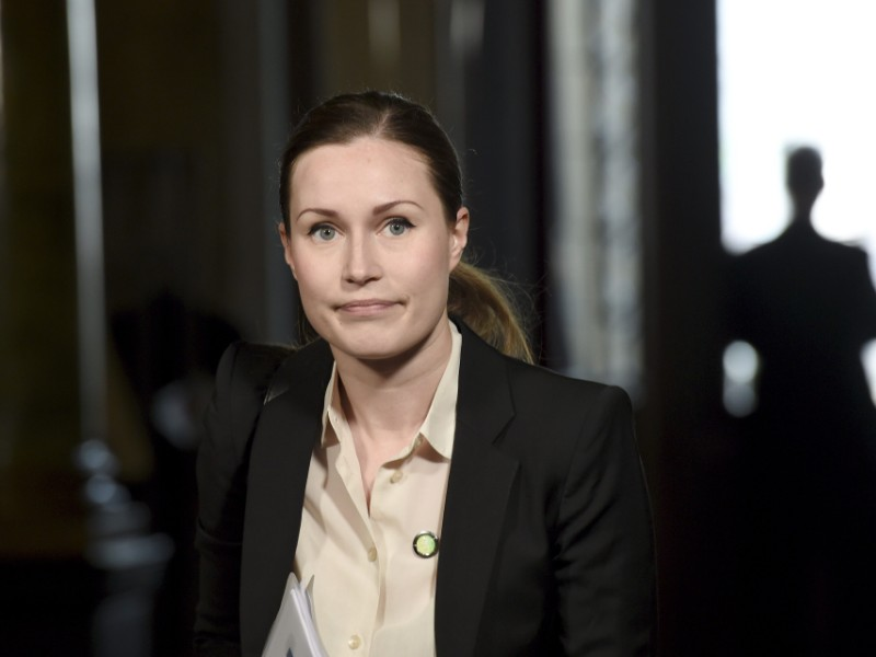 Sanna Marin (SDP), the Minister of Transport and Communications, says she would like to see a shorter work week become a reality in the near future. (Emmi Korhonen – Lehtikuva)