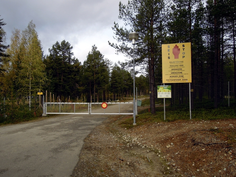 An image of an authentic border point between Finland and Russia (Image: Lehtikuva)