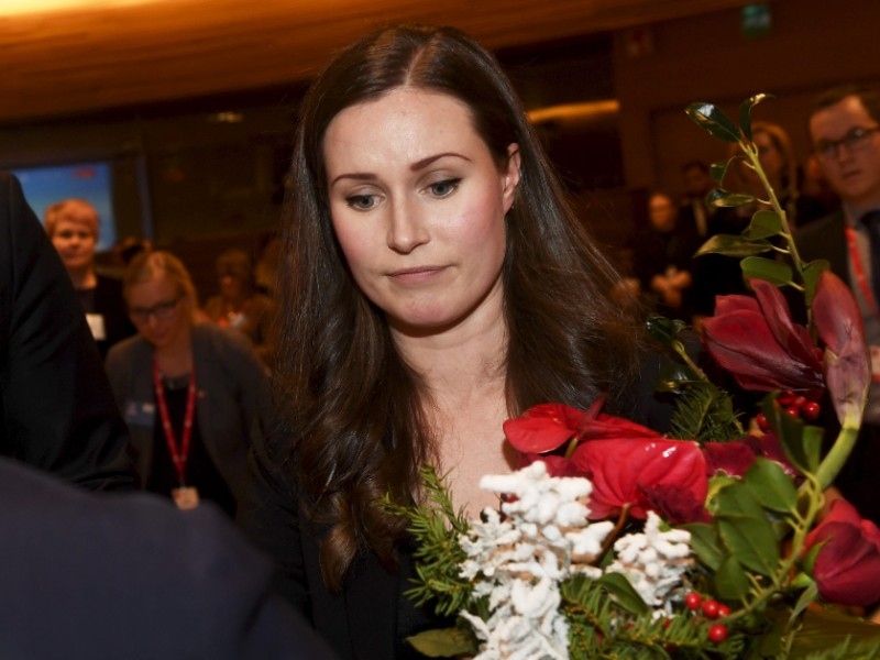The Social Democrats' Sanna Marin, 34, is set to become the youngest serving prime minister in the world and the youngest ever in the history of Finland. (Vesa Moilanen – Lehtikuva)