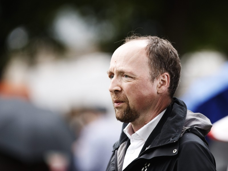Jussi Halla-aho, the chairperson of the Finns Party, was photographed at a meeting of the Finns Party at SuomiAreena, a political debate event held annually in Pori, Western Finland, on Tuesday. (Roni Rekomaa – Lehtikuva)