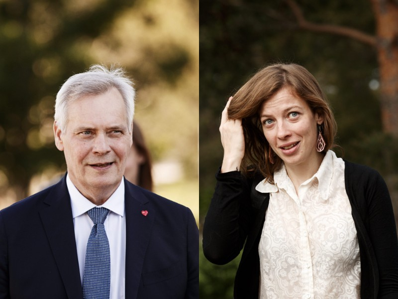 Prime Minister Antti Rinne (left) and Minister of Education Li Andersson (right) found themselves in apparent disagreement over what it means to be unemployed last week. (Roni Rekomaa – Lehtikuva)