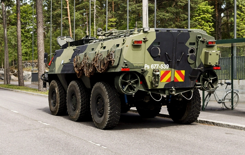 An image of the type of armoured personnel carrier involved in the accident (Image: Lehtikuva)