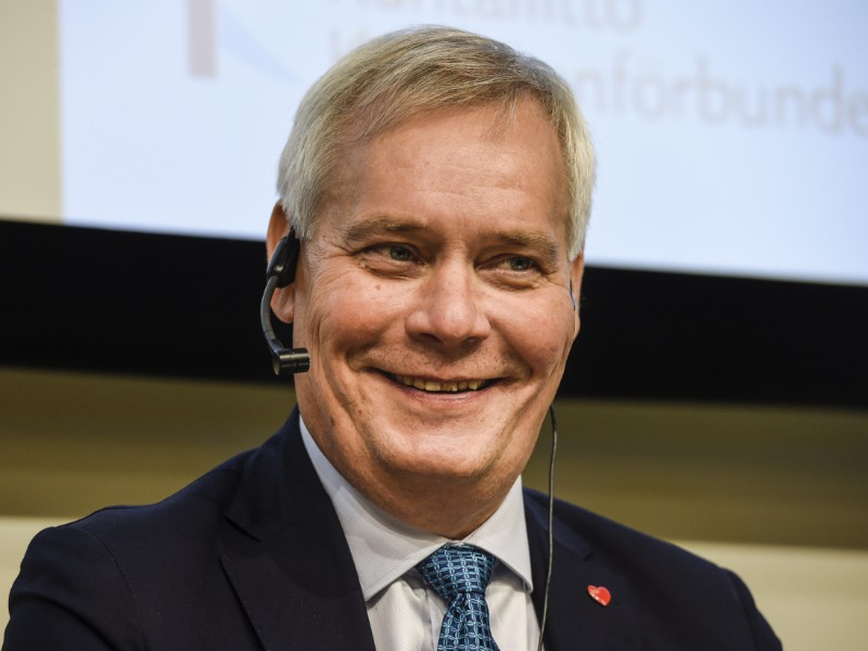 Prime Minister Antti Rinne (SDP) took part in a panel discussion organised in conjunction with Kuntamarkkinat in Helsinki on Wednesday, 11 September 2019. (Emmi Korhonen – Lehtikuva)