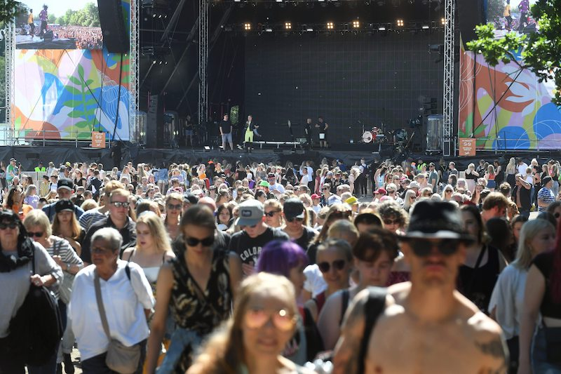 Scenes from last year's Ruisrock Festival, which was recently cancelled (Image: Lehtikuva)