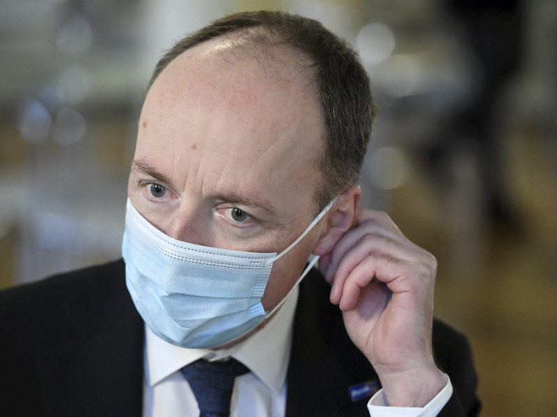 Jussi Halla-aho, the chairperson of the Finns Party, believes the coronavirus epidemic is beginning to make way for other, ultimately bigger topics of discussion in Finland. (Heikki Saukkomaa – Lehtikuva)