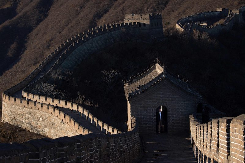A section of the Great Wall of China before its closure by government authorities (Image: Lehtikuva)
