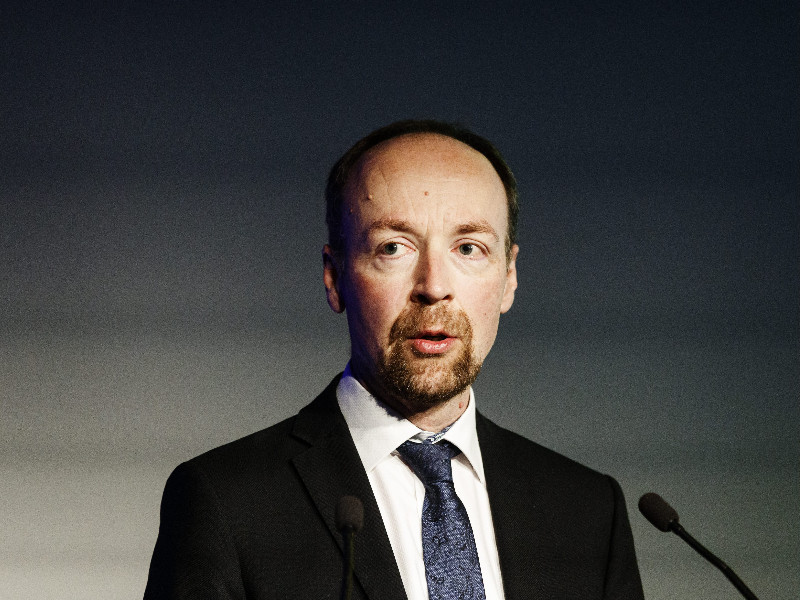 Jussi Halla-aho, the chairperson of the Finns Party, delivered the opening remarks of a meeting of the opposition party's party council in Helsinki on 13 June 2020. (Roni Rekomaa – Lehtikuva)