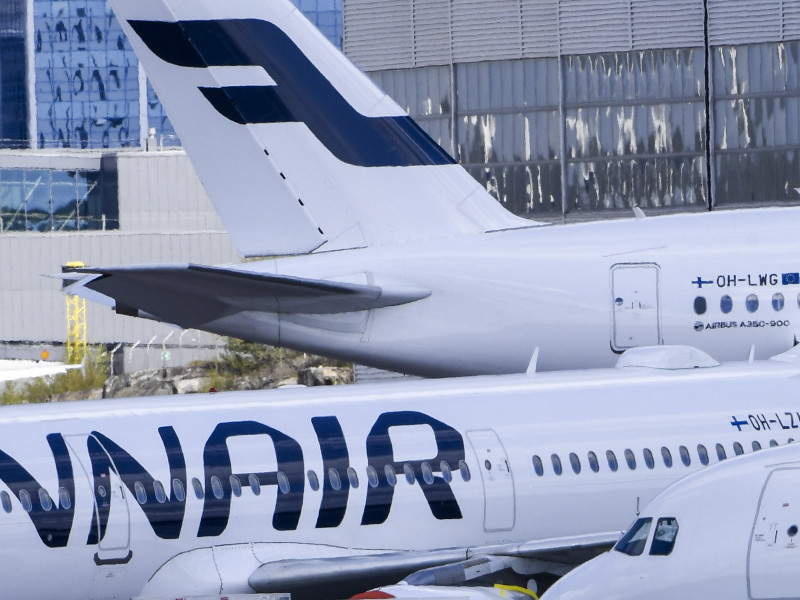 Finnair aircraft at Helsinki Airport on 18 May 2020. The Finnish majority state-owned airline says it intends to operate over 30 per cent of its regular flights in July and 70 per cent by the end of December. (Markku Ulander – Lehtikuva)
