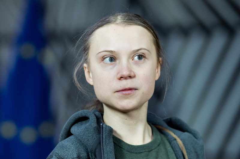 Thunberg at an EU climate summit in Brussels in March (Image: Lehtikuva)