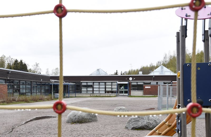 A view of the Linnajoki School on Sunday (Image: Lehtikuva)