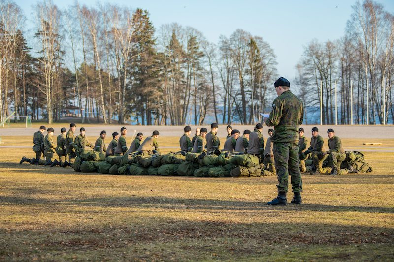 File image of Finnish conscripts in training / Lehtikuva