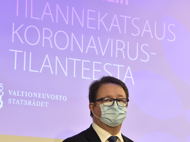Mika Salminen, the head of health security at the Finnish Institute for Health and Welfare (THL), provided an update on the coronavirus epidemic in Finland in Helsinki on Thursday, 29 October 2020. (Jussi Nukari – Lehtikuva)