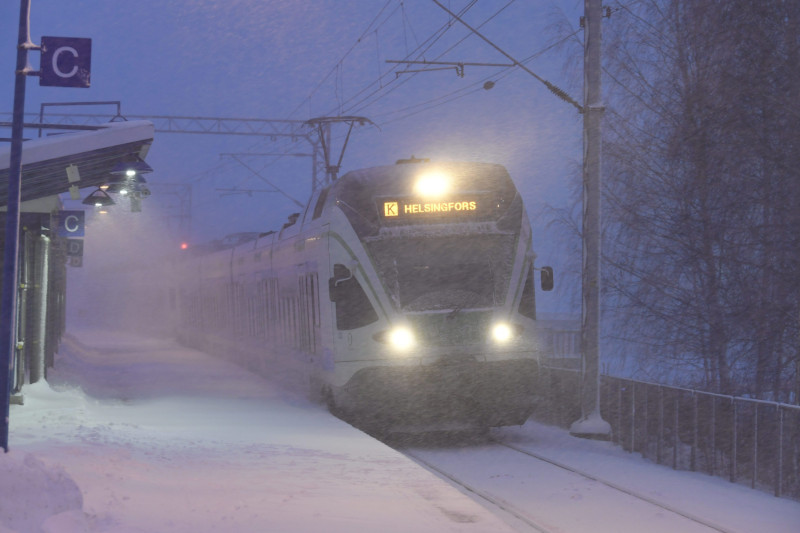 The heavy snowfall is also expected to disrupt train schedules