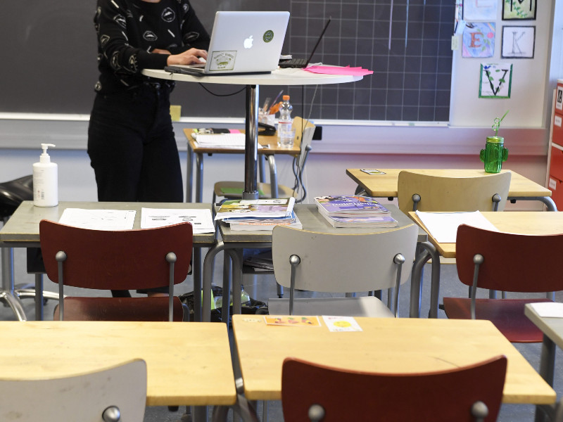 Pupils in the last three years of basic education will be taught remotely in large parts of Southern Finland between 8 and 28 March, under a decision by the Regional State Administrative Agency (AVI) for Southern Finland. (Vesa Moilanen – Lehtikuva)
